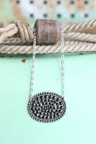 Sideways Oval Necklace by GlmgrlsBoutique on Etsy