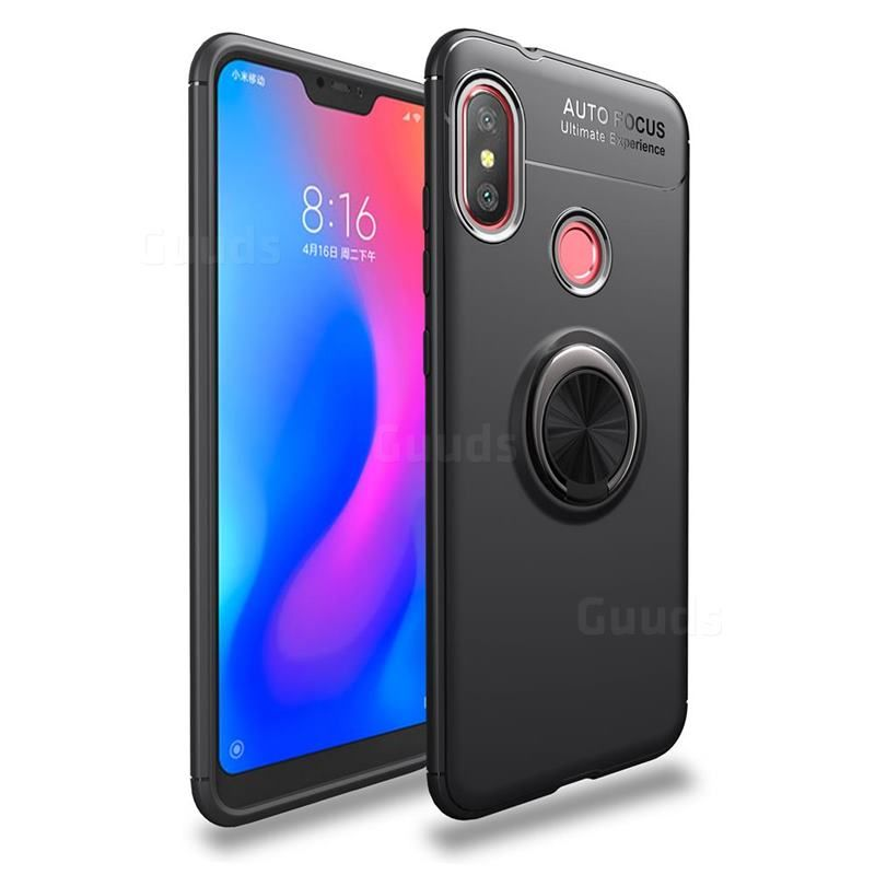 Auto Focus Invisible Ring Holder Soft Phone Case For Xiaomi Mi A2 Lite Redmi 6 Pro Black Back Cover Guuds Xiaomi Smartphones For Sale Phone Cases
