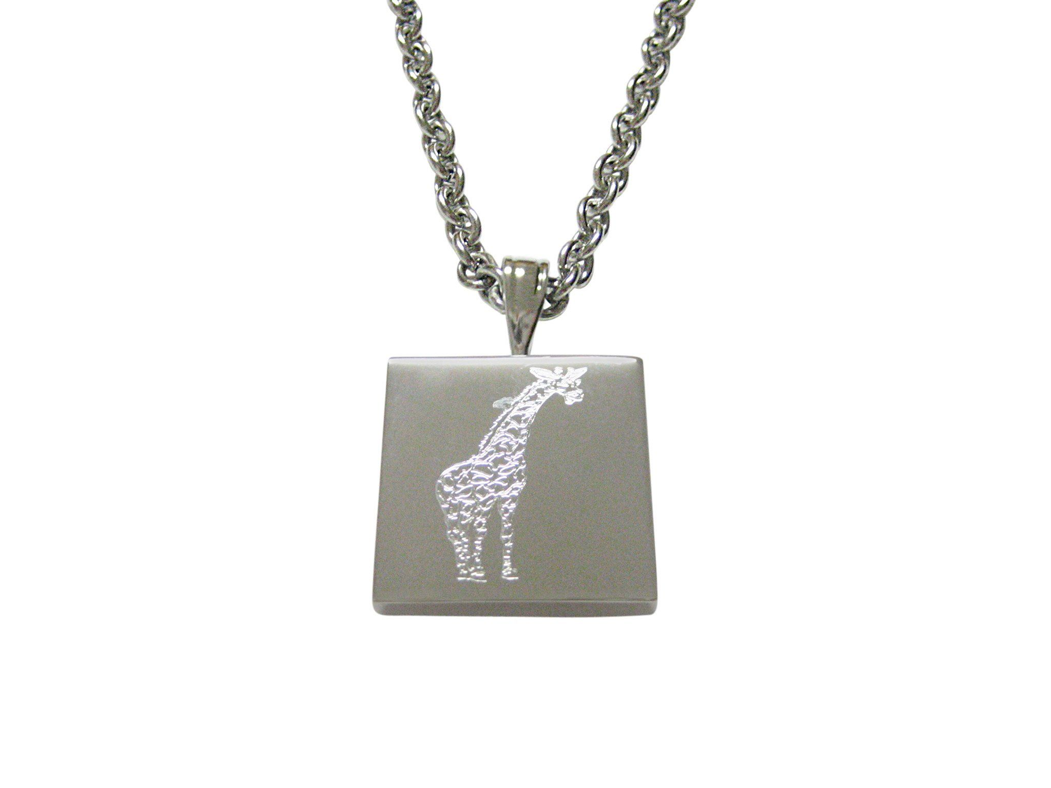 Toned etched giraffe pendant necklace silver toned etched giraffe pendant necklace aloadofball Choice Image