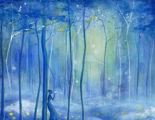 Fairy Fantasy Forest  Enchanted Woodland Fairytale by annya127, $18.00