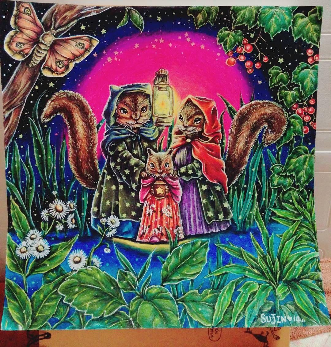 《열네번째 컬러링💛💙💜❤》 열두줄언니한테 선물받은 《네가오는날》 채색완료😍  간만에 색칠했는데 이눔의 손은 언제낫지. - #daily #selca #coloring #colouring #coloringbook #art #illust #antistress #prismacolor #fabercastellpolychromos #healing #coloredpencil #thedaywefinallymeet #일상 #셀카 #아트 #컬러링 #컬러링북 #프리즈마 #파버카스텔폴리크로모스120색 #색연필 #네가오는날 #상상의집 #김유진작가 #우기다 #힐링 #색칠공부 #안티스트레스 #일러스트 #연희동