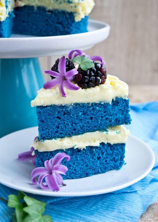 How To Make A Blue Velvet Naked Cake Blue velvet Blue velvet