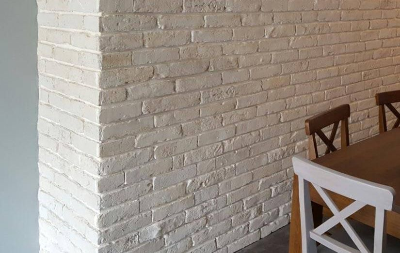 Cafe Wall Using Rustic White Brick Slips Stone Cladding Wall Cladding Rustic White