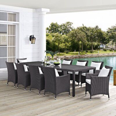 Sol 72 Outdoor Brentwood Outdoor Patio 11 Piece Dining Set With