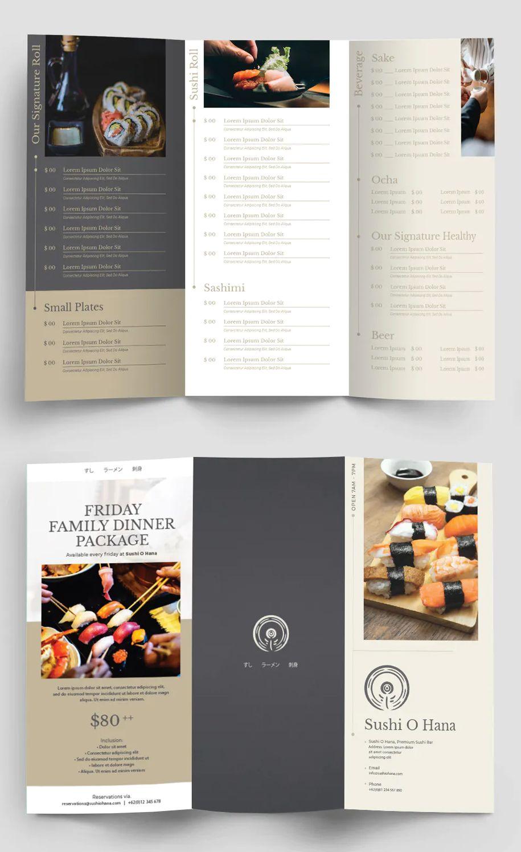 Restaurant Trifold Menu Template Psd Vector Eps Ai Download Menu Design Template Menu Card Design Menu Design