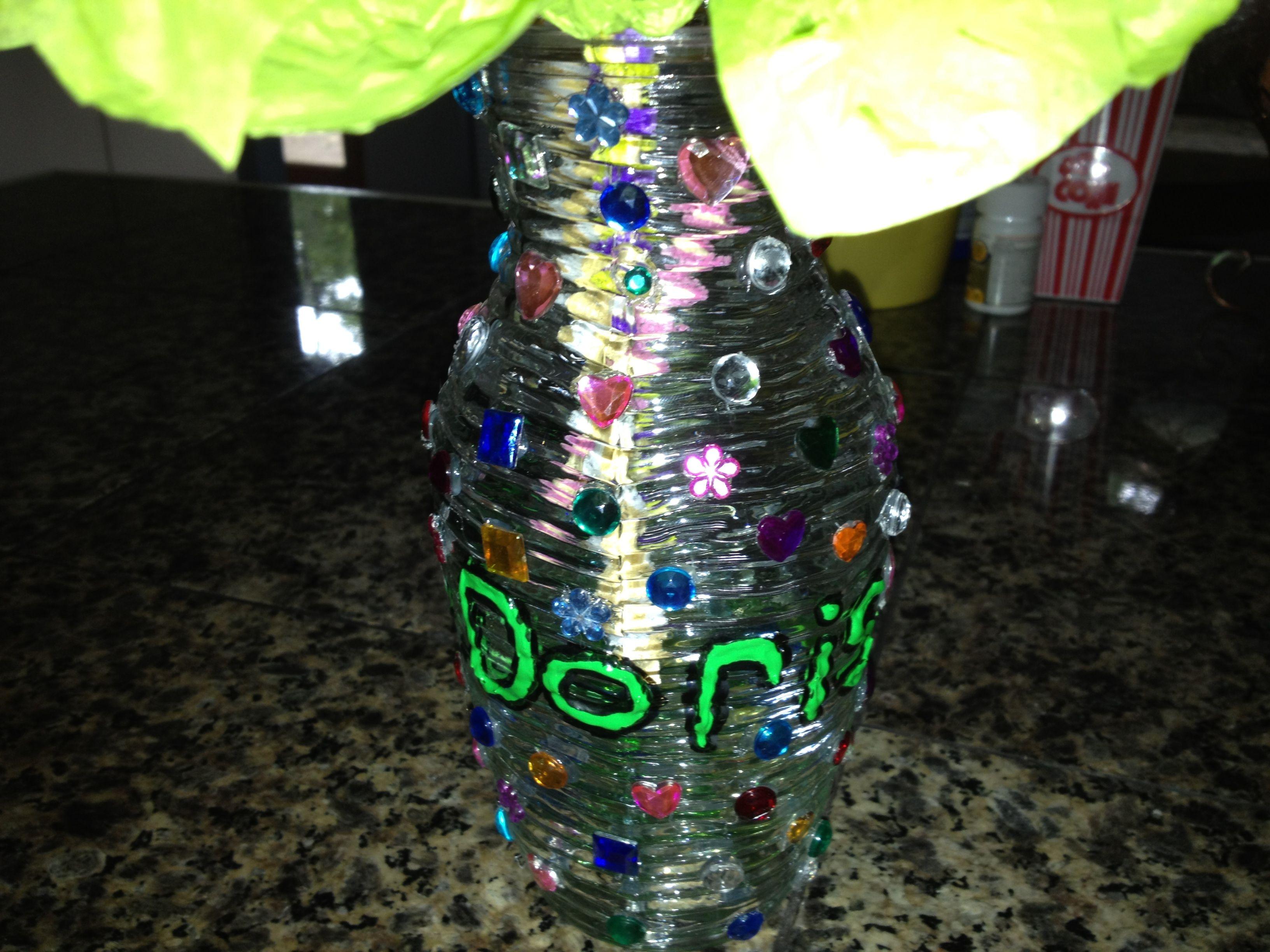 Tissue Paper Bouquet Vase