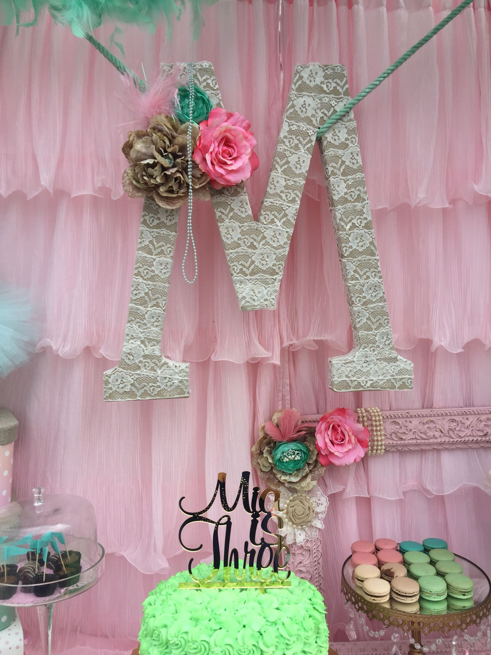 xl letter m for birthday background rolled with lace. Black Bedroom Furniture Sets. Home Design Ideas