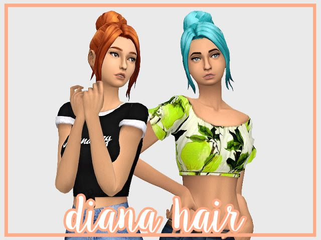 Sims 4 CC's - The Best: Diana Hair by Honest