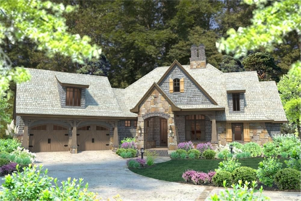 front elevation of cottage home plan theplancollection house plan 117 1102