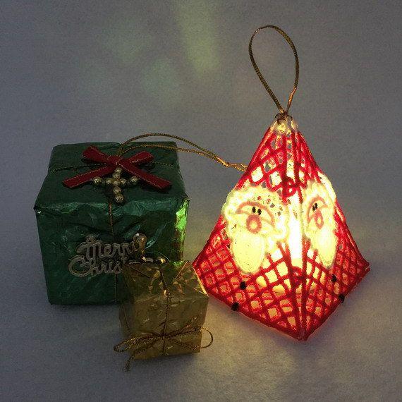 Fsl Christmas Tea Lights Free Standing Lace Ornaments Machine
