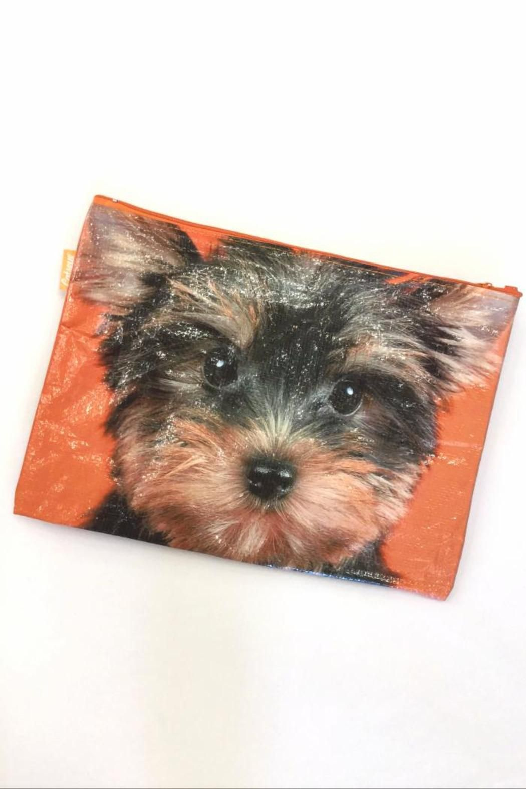 """Water resistant and perfect for passports, papers or just a great makeup carryall! Great organizer pouch for those keeping your treasures safe! Measures 9"""" x 13""""   Yorkie Pouch by Catseye London. Home & Gifts - Gifts & Things Santa Monica, Los Angeles, California"""