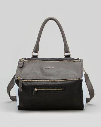 db86db6e3b $2125 Pandora Medium Colorblock Satchel Bag, Gray by Givenchy at Bergdorf  Goodman.