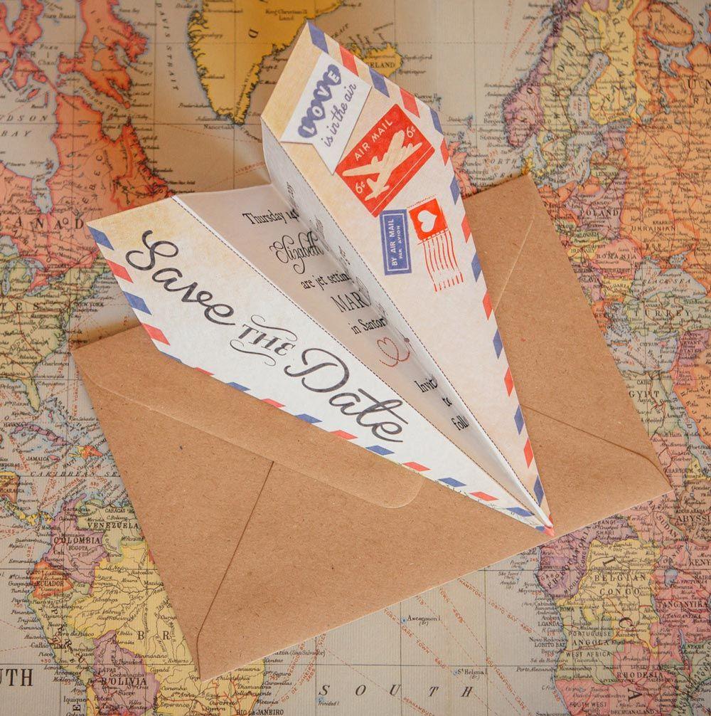 43 Unique Save The Date Ideas. Strandhochzeit EinladungFlughafenFeiern EinladungenBenutzerdefinierte HochzeitseinladungenHochzeit Schreibwaren Flugzeug ...