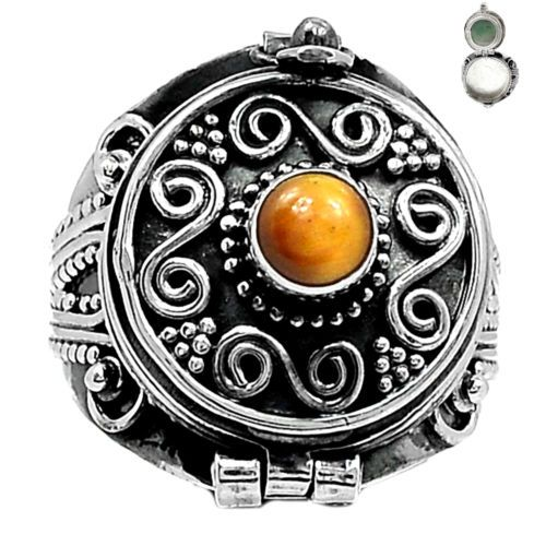 Poison-Tiger-Eye-925-Sterling-Silver-Ring-Jewelry-s-8-5-SR108263