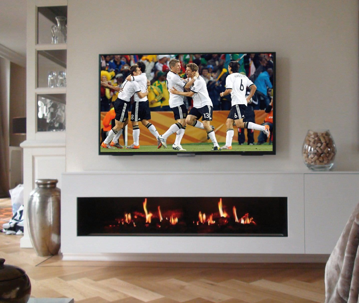 electric fireplace built in closed hearth contemporary opti