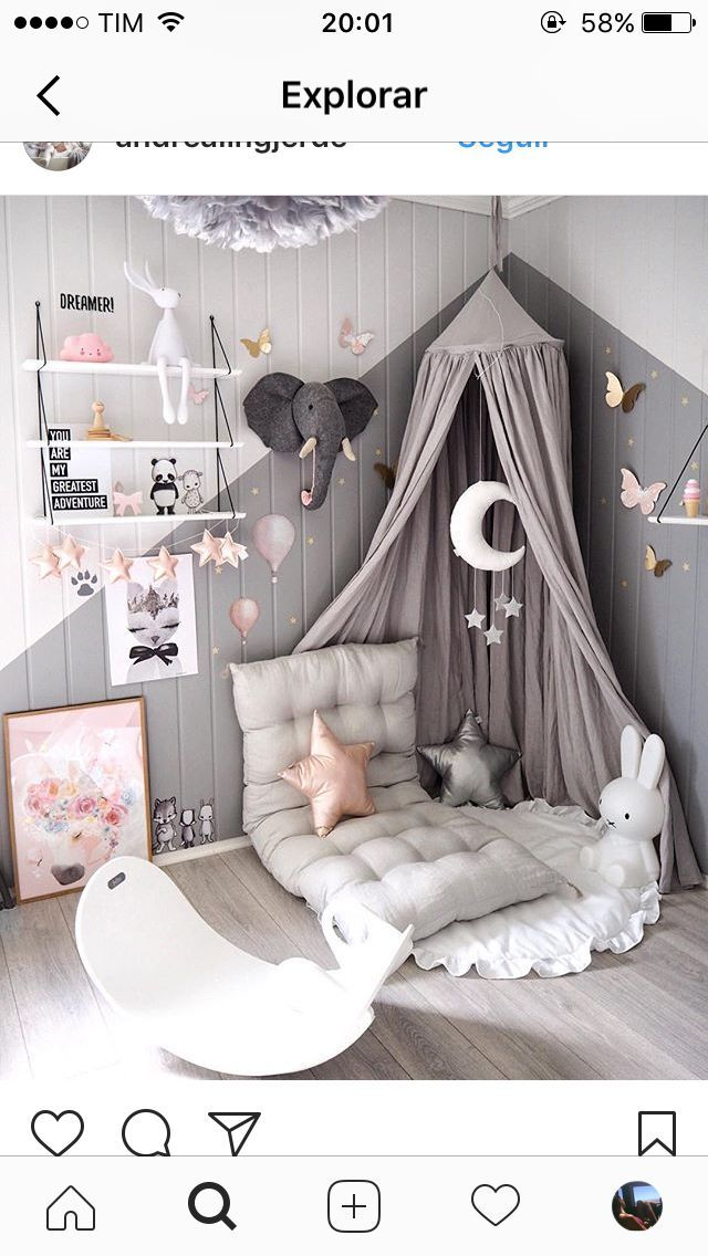 Rosa Grey Nursery - 18 luxuriöses rosa Grey Nursery Room Concept #decofuture