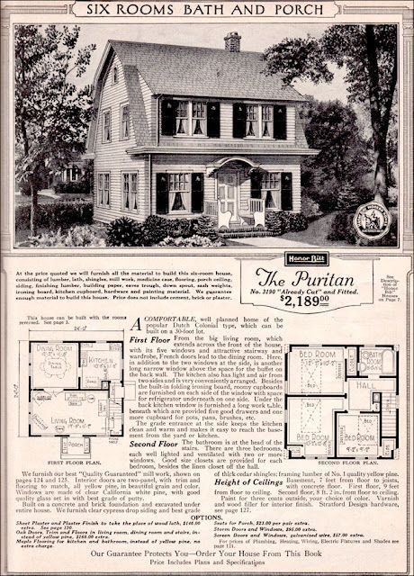Sears Plan The Puritan I Lived In A Home Of This Sears Design And It Still Looks Good Today Dutch Colonial Homes Colonial House Dutch Colonial