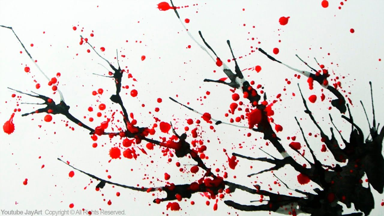 How To Paint A Cherry Blossom Tree In Watercolor Splatter Painting And Blowing Techniques S Art Tutorials Watercolor Watercolor Splatter Dandelion Painting