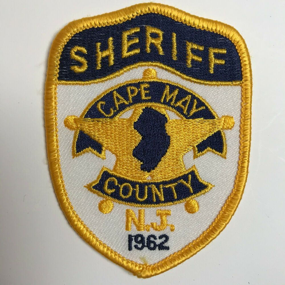 Cape May County Sheriff New Jersey Hat Size Patch Cape
