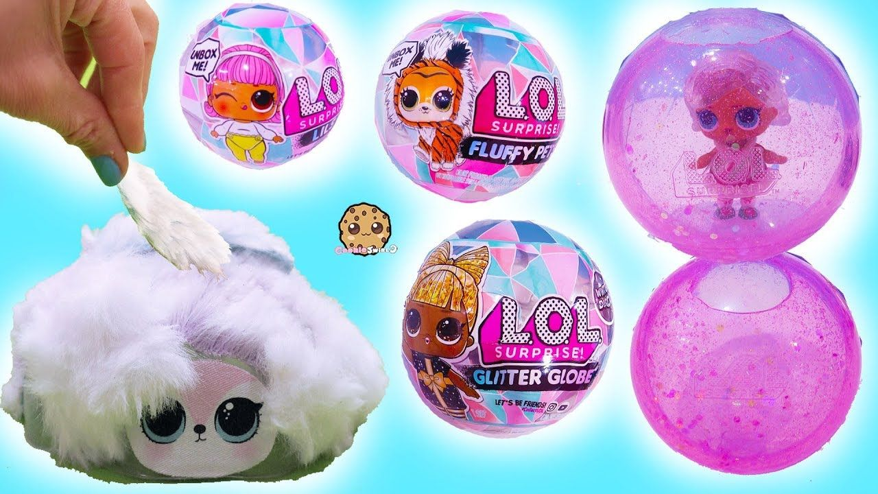 New Winter Disco Lol Surprise Big Fuzzy Hair Pets Water Snow Globes Lol Dolls Lol Pets