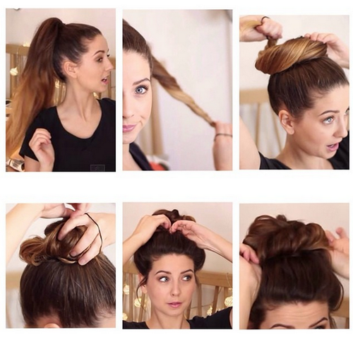 How To Tie A Messy Bun Hair Inspiration Hair Styles Hairstyle