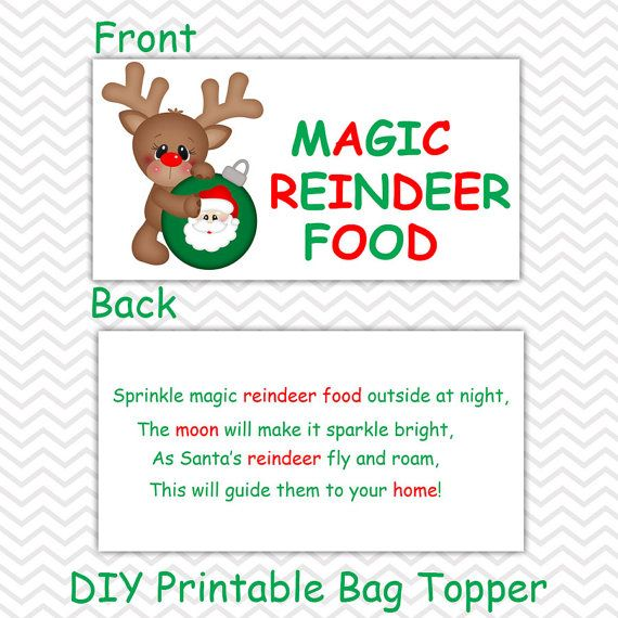 image regarding Reindeer Food Labels Printable referred to as This list is for a Do it yourself Printable record. This list is