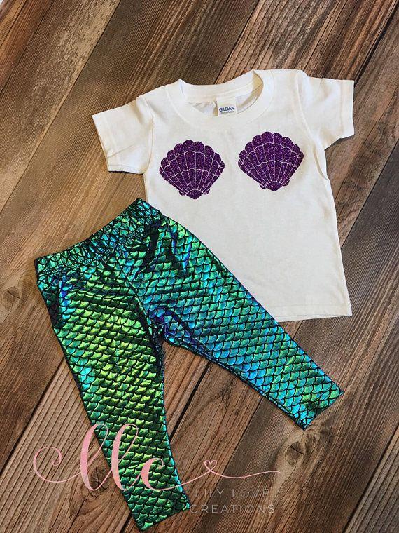 Mermaid Birthday Shirt And Leggings Personalized Princess Birthda