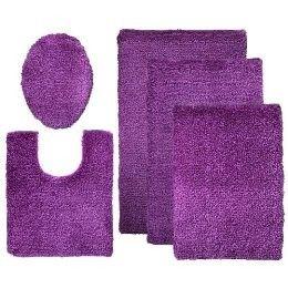 Contemporary Home Bath Rugs - Classic Purple | Purple bath ...