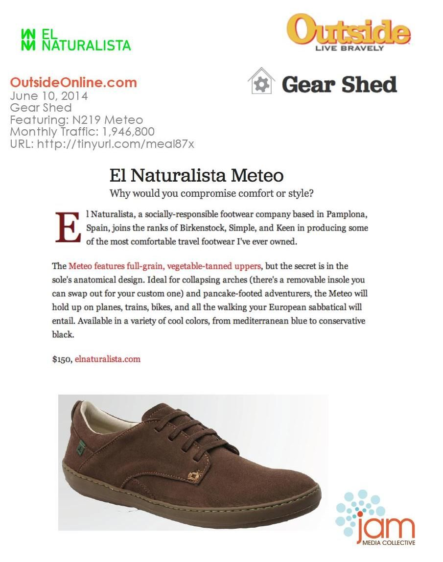 Thank you  Outside Magazine for the coolest review of  elnaturalistaen N219  Meteo fe292178bdcb