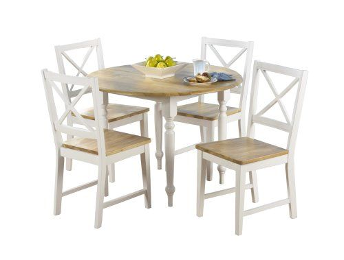 TMS 5 Piece Virginia Dining Set WhiteNatural *** Learn more by ...