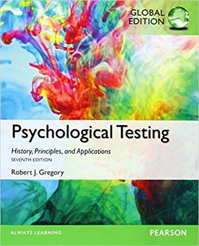 Psychological Testing History  Principles  And Applications  7th Edition - Global  - Ebook