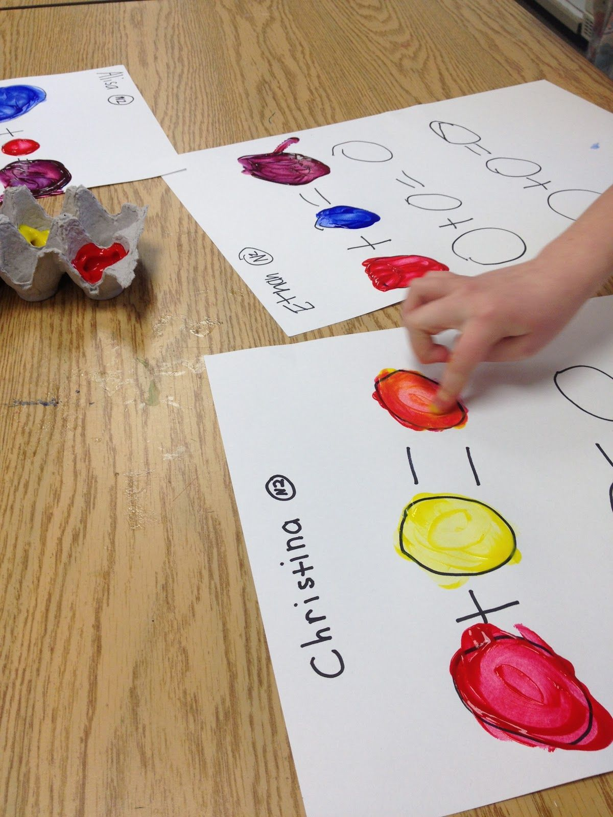 Color Wheel Projects Mondrian Animals Fingerpainting