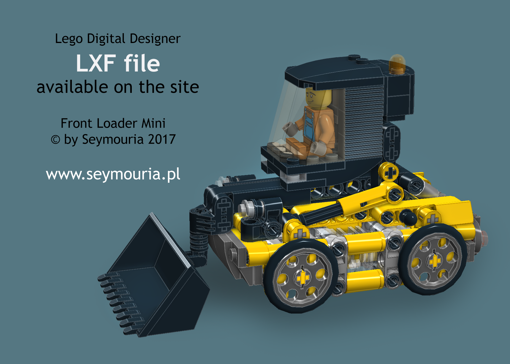 Front Loader Mini by Seymouria pl 2017 LXF file Lego Digital