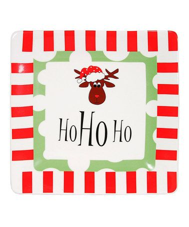 Take a look at this Red & Green 'Ho Ho Ho' Plate by The Royal Standard on #zulily today!