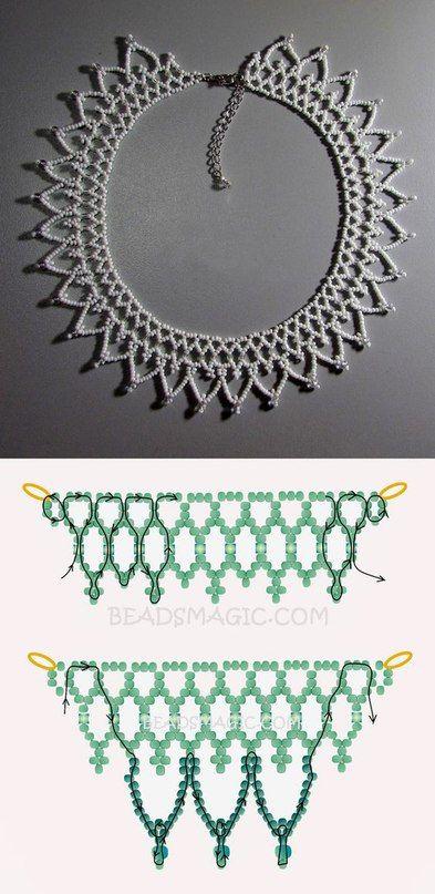 воротники + колье   Beaded Work   Pinterest   Collares, Mostacilla y ...