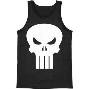 Punisher White Logo Mens Tank