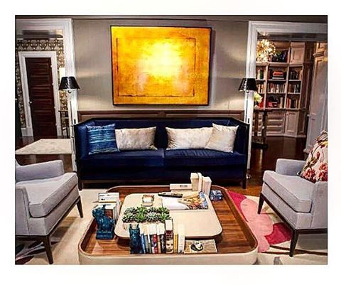 Thanks @dominomag for including our #sexandthecity living room in your story THE BEST MOVIE LIVINGROOMS OF ALL TIME!  What an honor. #bigandcarrieloveditalso #marksandfrantz #interiordesign #setdecoration #satc #bluevelvet #bluesofaseries
