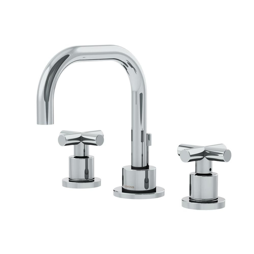 Symmons Dia 8 In Widespread 2 Handle Bathroom Faucet With Cross