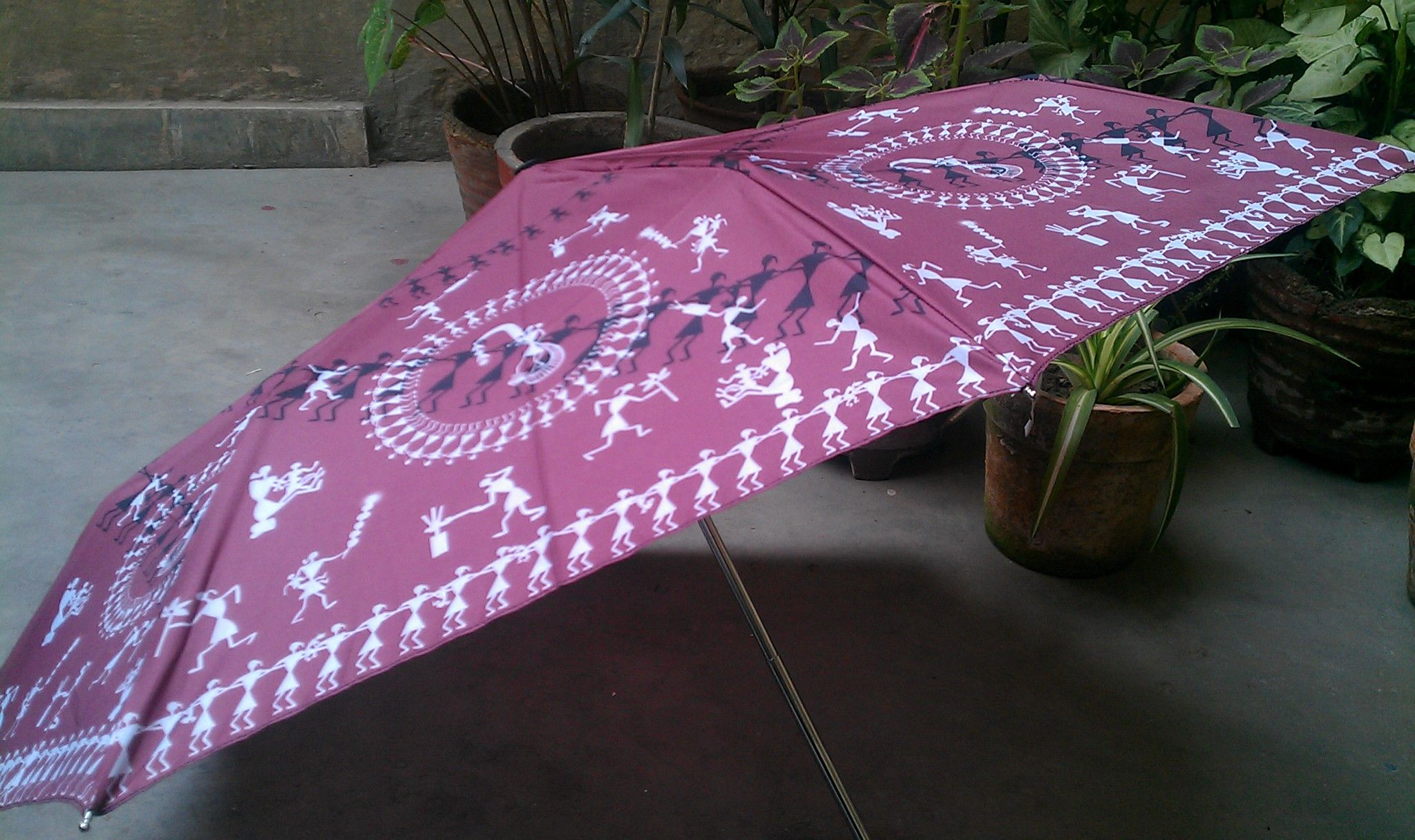 a warli umbrella from the bombay store hey i got one too a