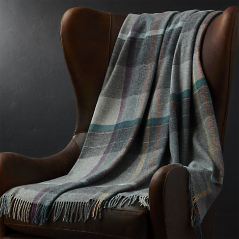 Pierce Plaid Throw Blanket | Crate and Barrel