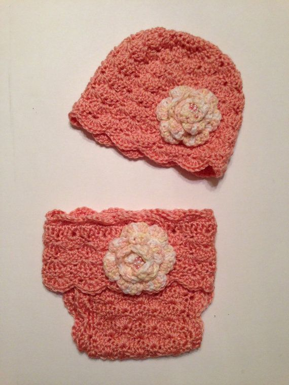Crochet Pattern, Diaper Cover Soaker and Beanie Hat, PDF 12-106 ...
