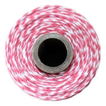 Striped Cotton Twine: Strawberry