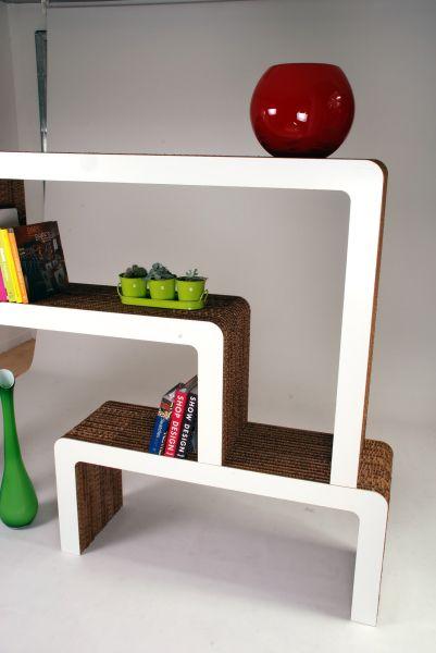 Libreria in cartone riciclato mod. Vimini | A- Furniture | Pinterest ...