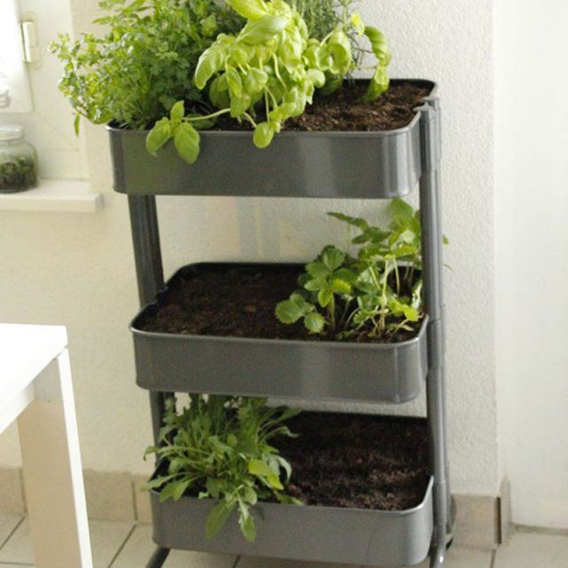 diy v g tal comment faire un petit potager desserte. Black Bedroom Furniture Sets. Home Design Ideas