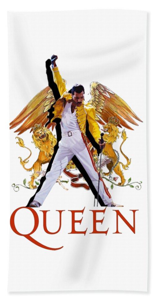 Freddie Mercury Queen Logo Beach Towel For Sale By Sally Ayad In