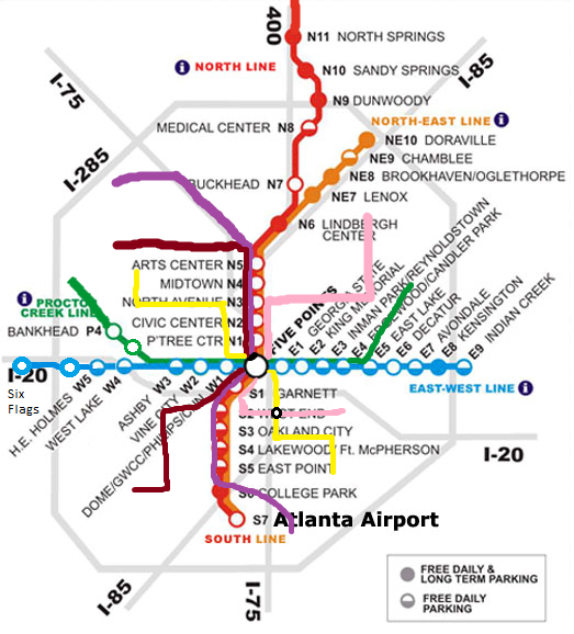 Marta Station Atlanta Georgia Map  Possible Future MARTA
