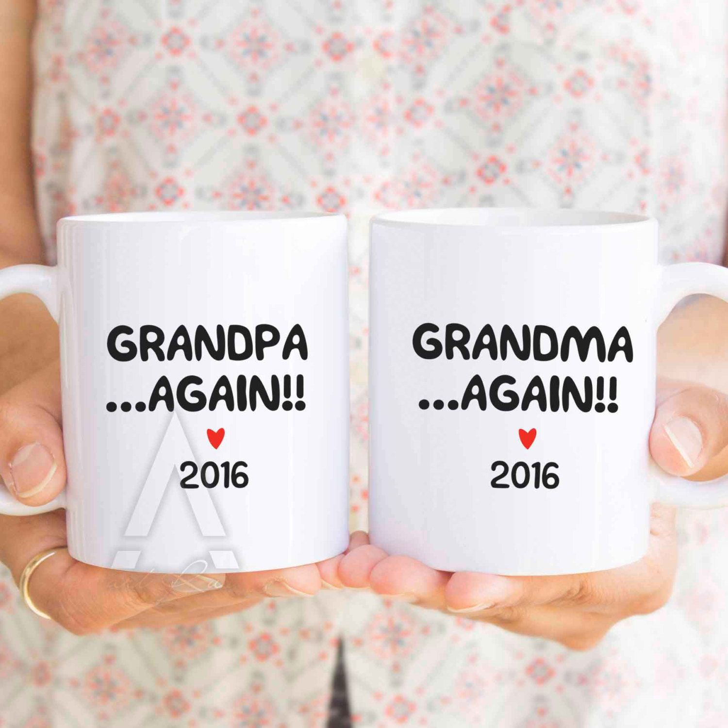 Grandma Again, New Grandma Or New Grandpa Again Mug, Gifts