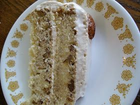 The Foodie RD: Butter Pecan Cake with Maple Meringue Frosting