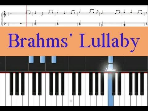 Learn How To Play This Traditional Song Brahms Lullaby On Piano