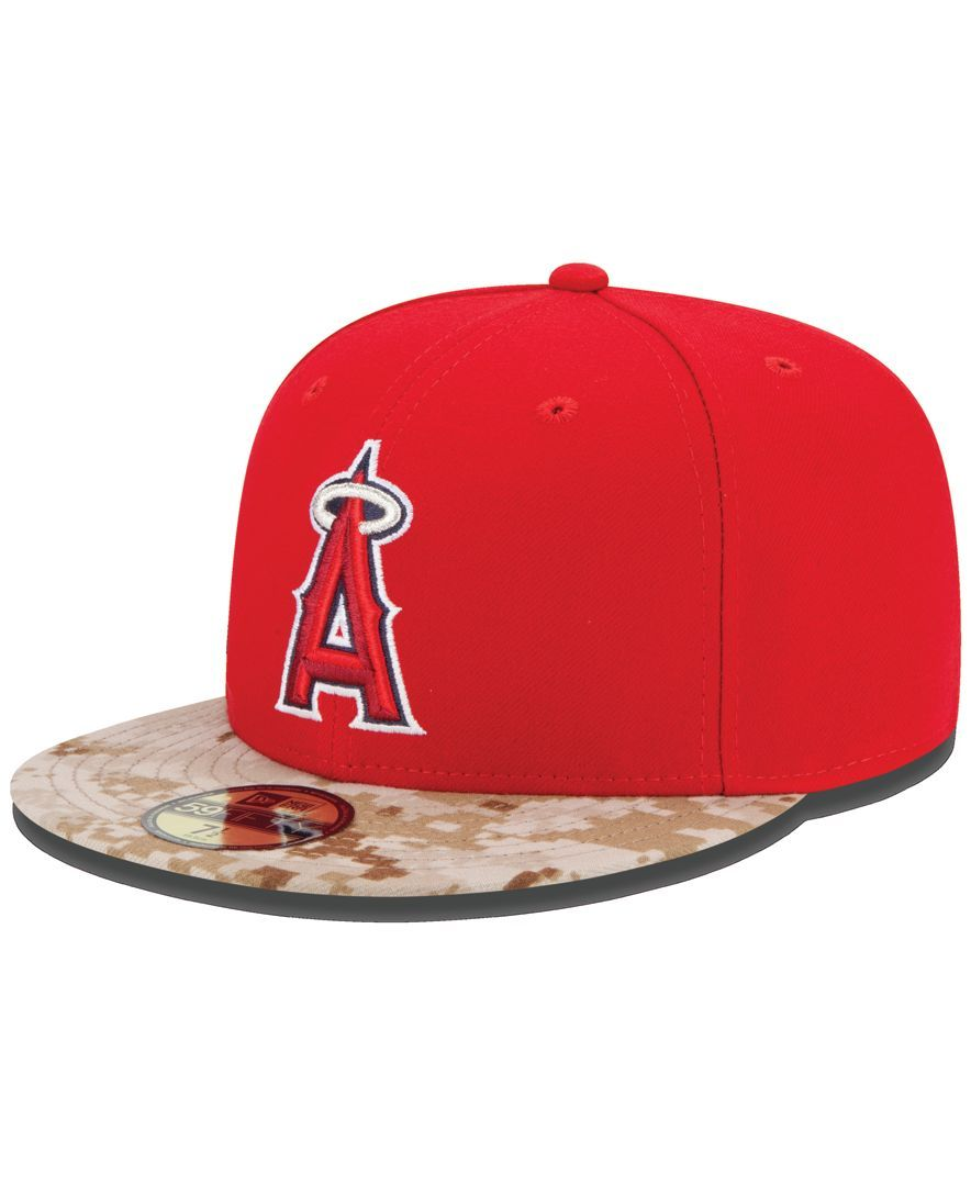 10c0e38d2c19a9 New Era Los Angeles Angels of Anaheim 2015 Memorial Day Stars and Stripes  59FIFTY Cap